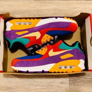 Nike Air Max 90 QS Viotech Multi-Color Red Purple